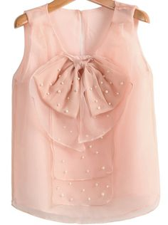 pearl beaded bow top