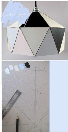 DIY: Geometrisk lampeskærm   Bungalow5