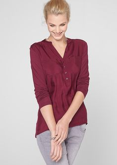 Blouse top in a mullet style in the s.Oliver Online Shop