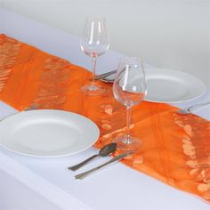 Paradise Forest Taffeta Table Runners - Orange |  Nature, with all its serenity and comeliness has a tranquil effect on and mesmeric inspiration for monotony-stricken people. We experience soothing peace and calmness when in the company of Mother Nature. If you desire to spend your festive moments in coordination with the natural atmosphere and background, then we have just the thing for your quest. Our nature inspired beguiling Forest Taffeta runner is specially been crafted to caress your…