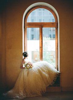 Photography by carmensantorelli.com, Floral Design by splendidstems.com, Dress by http://inesdisanto.com/, Venue: http://www.theplaza.com/