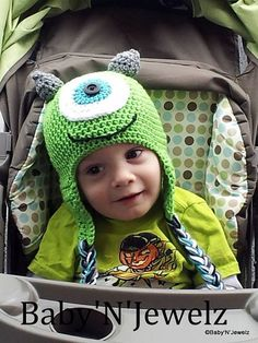 Crochet Mike Inspired Monster Inc..-- Photo Prop  -- Hat-- MADE TO ORDER--  Infant to Adult