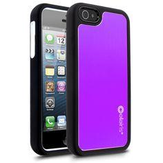 Cellairis Rapture Elite Aluminum Case for Apple iPhone 5 - Black, Purple & White iPhone 5 Case