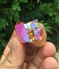 Sunset Aura quartz Quartz Cluster, Crystals And Gemstones, Druzy Ring, Art Work, Heart Ring, Sparkle, Sea, Sunset, Trending Outfits