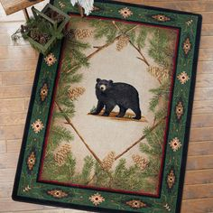 Curious Cub Black Bear Rug - 5 x 8