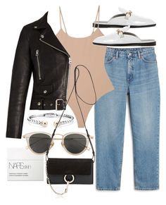 """""""Untitled #21909"""" by florencia95 ❤ liked on Polyvore featuring Monki, Acne Studios, NARS Cosmetics, Blue Nile, Issey Miyake and Chloé"""