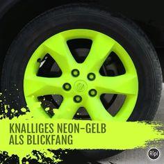 mibenco Neon-Effekte bringen deine Felgen zum Leuchten // Eye-catching bright neon colors for your rims ☀️ #mibenco #sprühfolie #neon #felgentuning #flüssiggummi #liquidrubber #tuning #rims #rubbercoating #rubberdip #removable