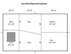 One sheet (4' X 8') plywood dog house - Resha Sled Dog Equipment