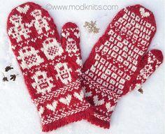 Robot Love Mittens #pattern #knitting #Valentine's Day   @Emily Hagen @Laura Butler