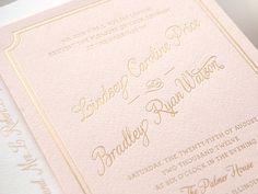 pink and gold foil letterpress by Kimberly FitzSimons