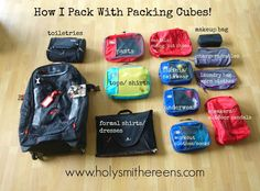 How I Pack with Packing Cubes, Eagle Creek Load Warrior 28, and a Giveaway!