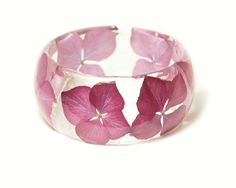 Real Flower Jewelry  Pink Bangle Pink Flower by ModernFlowerChild, $42.00