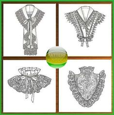 Butterick 4698 19th Century Victorian Collar/Neckpiece Patterns S-L