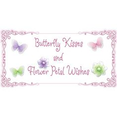 Flower Wishes Butterfly Kisses Quote Removable Vinyl Wall Sticker. Saying Butterflies Daisy Flowers Sayings Decals Quotes for Children's, Nursery & Baby's Room Decor, Baby Walls, Girls Bedroom Decorations. Stickers Decal Child's Art Murals Babies Shower Bugs-n-Blooms http://www.amazon.com/dp/B0083UFSB0/ref=cm_sw_r_pi_dp_WIqeub1F39F47