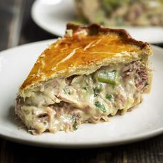 Chicken And Leak Pie, Chicken And Mushroom Pie, Chicken Ham, Pastry Recipes, Meat Pie Pastry Recipe, Cooking Recipes, Chef Recipes, Stuffed Food Recipes, Meat Pie Recipes