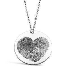 Custom Sterling Silver Fingerprint Heart Necklace – Rachel Roth Jewelry