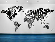 Geo typographies world map wall stickers wall papers made of world map wall art world map decal world map wall decal world map art world map decor home decor wall art school decor gumiabroncs Gallery