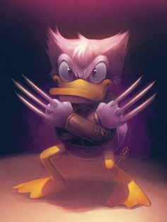 Logald Duckerine /by saiyagina #deviantart #cartoon #xmen #mashup