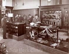 """1913 Abercrombie and Fitch store: """"The kind of place where someone like President Teddy Roosevelt would have gone to secure provisions and equipment before setting out to explore a new branch of the Amazon; where explorers would go to equip for a first expedition to the North Pole, or a first attempt at K2 or Everest."""""""