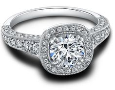 Honor, a vintage-inspired diamond engagement ring by Jeff Cooper. Via Diamonds in the Library. Best Diamond, Diamond Rings, Vintage Engagement Rings, Diamond Engagement Rings, Jeff Cooper, Vintage Diamond, Jewellery Display, Gemstone Jewelry, Fashion Jewelry