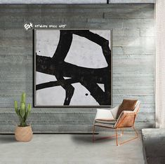 Abstract Painting Black White Abstract Art Large Wall Art image 0 Abstract Animal Art, Abstract Canvas Art, Acrylic Painting Canvas, Canvas Wall Art, Painting Abstract, Minimalist Painting, Minimalist Art, Texture Art, Texture Painting