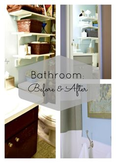 Before and After Bathroom DIY Updates