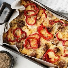 Vegetable Pizza, Food And Drink, Vegetables, Red Peppers, Vegetable Recipes, Veggies
