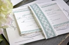 Vintage-Inspired-Blue-Gray-Letterpress-Wedding-Invitations