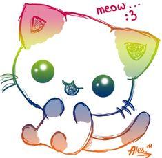 Image of: Photobucket Rainbow Kitty Manga Kawaii Chat Kawaii Kawaii Cat Kawaii Chibi Cute Chibi Pinterest 18 Best kawaii Animals Images Kawaii Kawaii Anime Cute Drawings