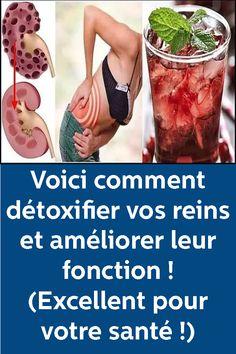 Voici comment détoxifier vos reins et améliorer leur fonction ! (Excellent pour votre santé !) Lose Weight, Weight Loss, Feel Good, The Cure, Health Fitness, Medical, Exercise, Diet, Voici