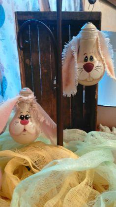 Hand painted bunny lightbulbs