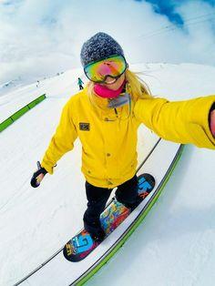 #GoPro #winter #snowboard