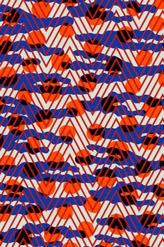 blue and red abstract geometric pattern