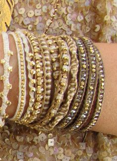 Crochet Jewelry (link is to buy not a how-to. Crochet Bracelet, Bead Crochet, Beaded Jewelry, Handmade Jewelry, Crochet Jewellery, Do It Yourself Inspiration, Bijoux Diy, Crochet Accessories, Jewelry Crafts