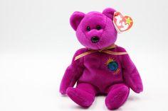 Millennium Beanie Baby Beanie Baby Bear Magenta Bear | Etsy #millennium #bear #magenta #beanie