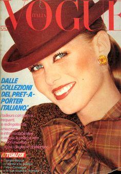 Vogue Italia October 1, 1979  Photo Marco Glaviano  Model Nancy Donahue