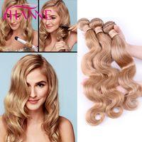 Honey Blonde Brazilian Body Wave 7A Brazilian Hair 100% Human Hair Extensions 3…