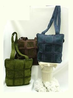 ko77 (370x500, 24Kb) Leather And Lace, Leather Bag, Recycle Jeans, Patchwork Bags, Crochet Purses, Handmade Bags, Crochet Clothes, Leather Craft, Purses And Bags