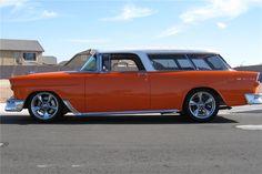 chevy nomad | Barrett-Jackson Lot: 350 - 1955 CHEVROLET NOMAD CUSTOM STATION WAGON