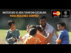 MasterCard'ın Arda Turan ile birlikte çocuklara yaptığı Paha Biçilemez Sürprizi izleyin, çocuğunuz Milano'da gerçekleşecek Champions League finalinde futbol ...