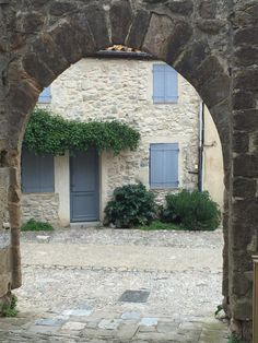 Through an archway in Lagrasse