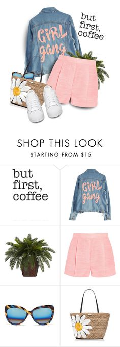 """""""Rhe #2601"""" by gaburrus ❤ liked on Polyvore featuring Retrò, High Heels Suicide, Nearly Natural, STELLA McCARTNEY, Matthew Williamson, Kate Spade and adidas Originals"""