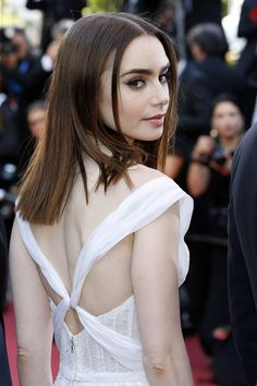 lily collins attends the cannes festival 2017