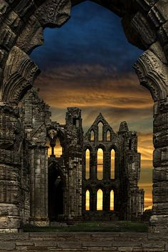 Whitby Abbey by Alan Baxter 2018 photo contest historic sites Beautiful Ruins, World's Most Beautiful, Beautiful Places, Historical Sites, Historical Photos, Whitby Abbey, Dark Castle, Gothic Aesthetic, Château Fort