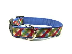 SooperTramp Dog Collar Preppy Plaid available at www.ZoePetSupply.com