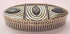 art deco pill box