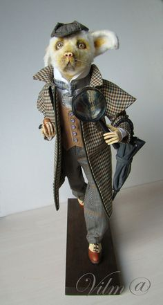 OOAK Art Doll Sherlock