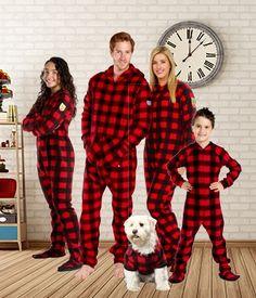 Matching Family Onesies - Canada Plaid Pajamas ae2ba2260