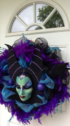 Halloween wreath- maleficient