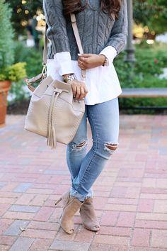 GiGi New York   Stone Jenn Bucket Bag   Natural Grain and Embossed Python Leather   Haute Off The Rack Fashion Blog